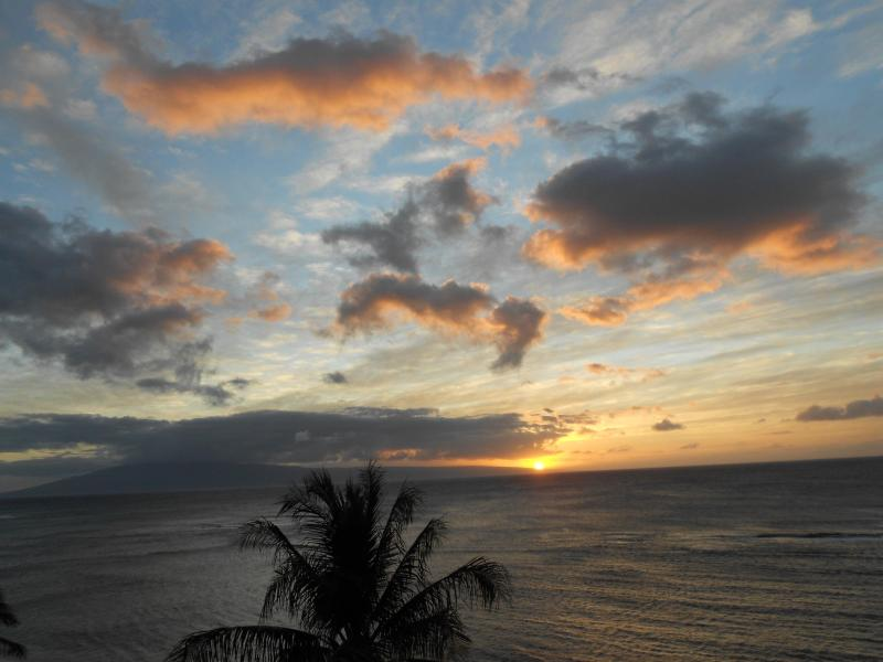 Spectacular Sunset from the Lanai of 1009