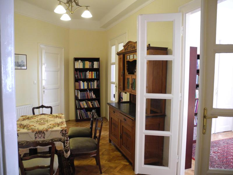 Dining room (from kitchen end to bathroom end)