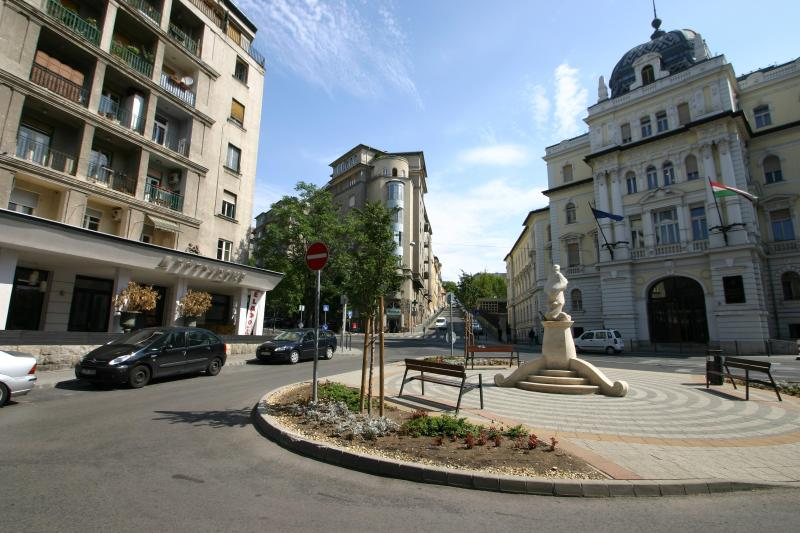 Local square - shops, pharmacy and eateries nearby