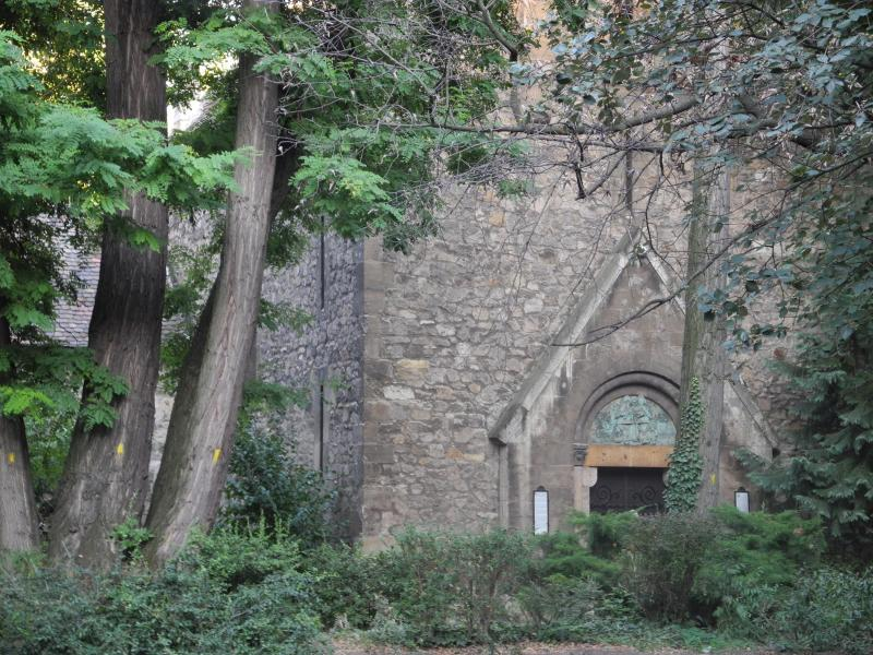 Medieval Church on the nearby Margaret Island
