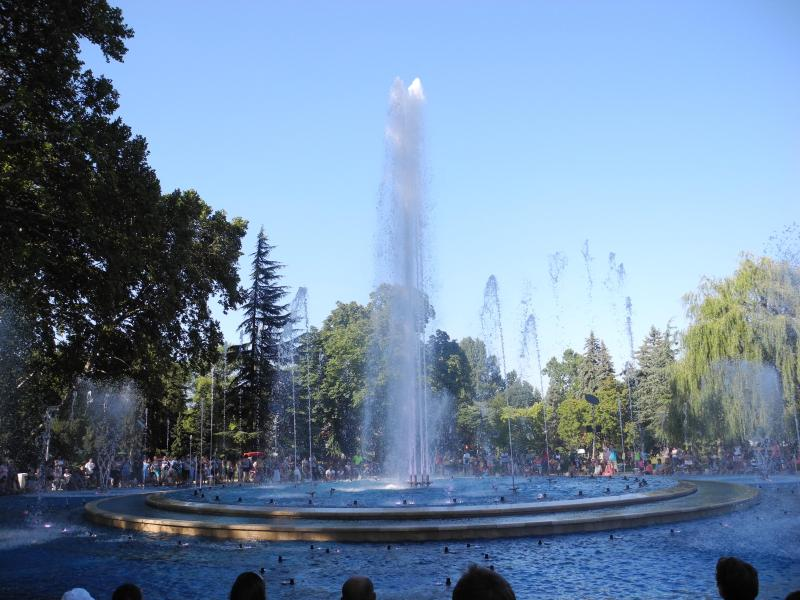 Margaret Island fountain - with light and sound show