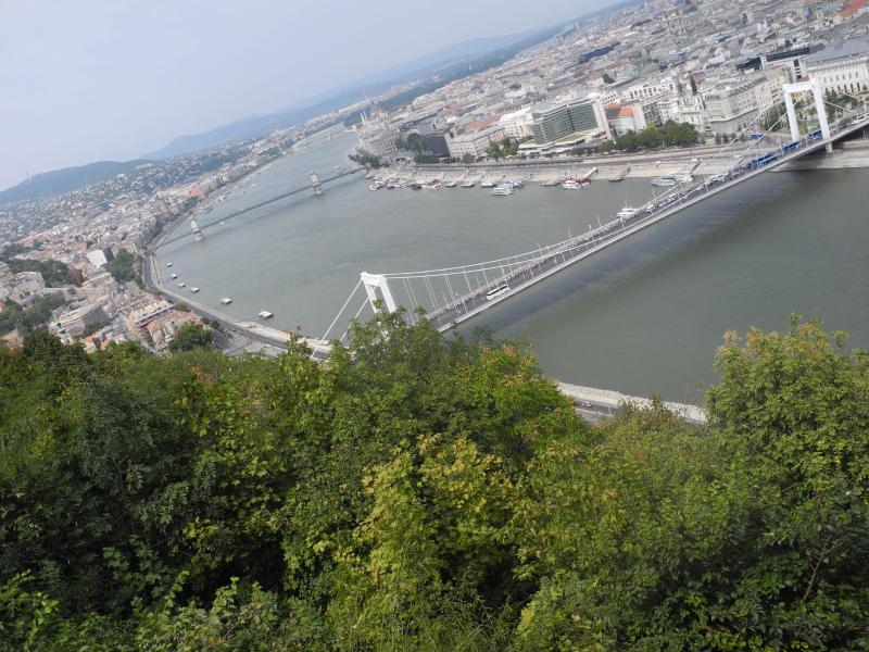 Looking from Buda across to Pest