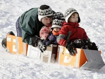 Your Kids + Snow + Cardboard Boxes = A Life Time of Memories.