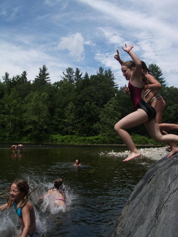 Un des trous de nos préférés de natation Local - une grande manière de passer d'une chaude journée d'été