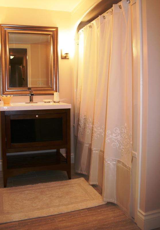 Bathroom with luxurious Towels, fine soaps and many extras