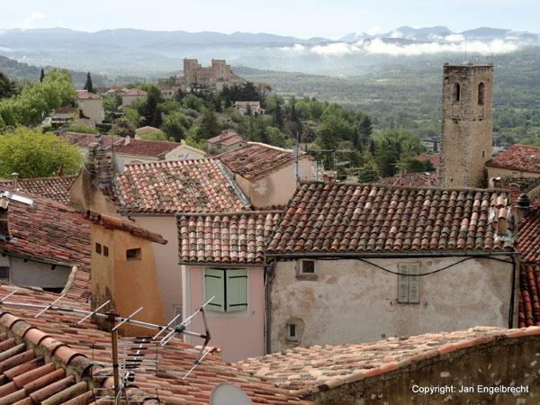 View over the roofs of Fayence