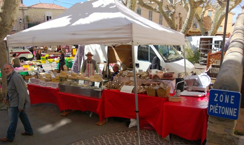 The market place in Fayence