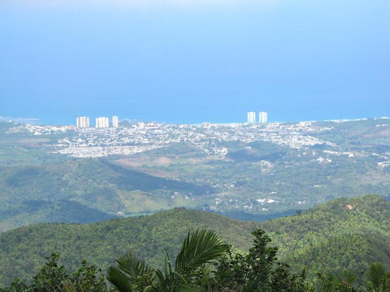 View of Luquillo Beach from a summit in the Rain Forest