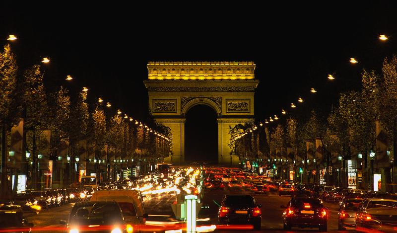 The world famous Avenue de Champs Élysées &  The Arc de Triomphe - 20 minutes walk from 'home'