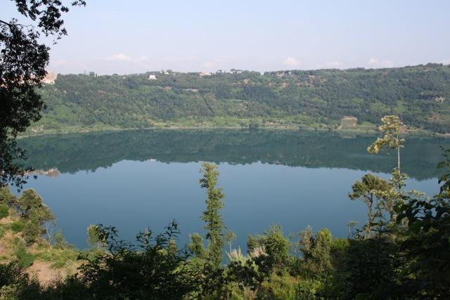 Vista al lago de la casa