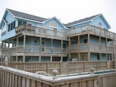 Exterior with tons of decking to watch the morning sun rise!
