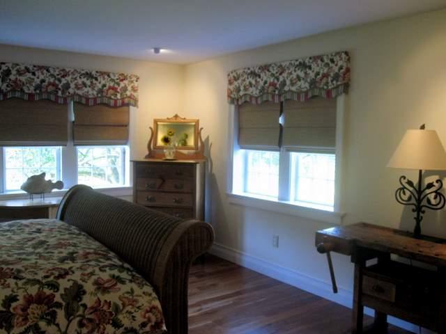 The bedroom with windows