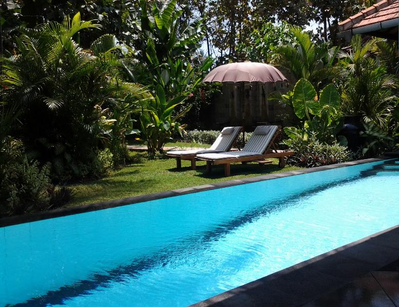 Villa Jati's pool and private garden