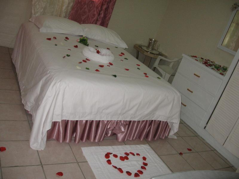 Master Bedroom upstairs with a view of Castries City