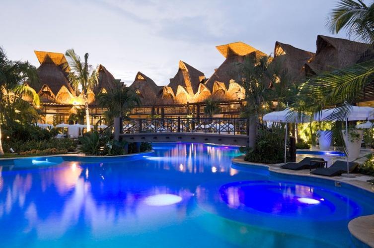 Grand Mayan - Mayan Riviera Resort Complex Beautiful pools at night