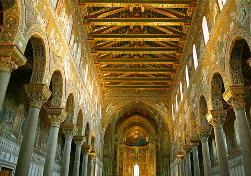 Arab nornan mosaics of the wonderful Cathedral of Monreale (Palermo)