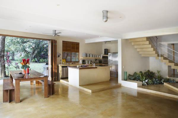 Open plan kitchen and dining area seating 12 persons comfortably