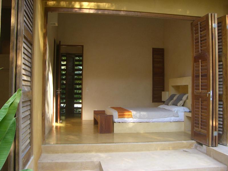 One of our beachfront facing bedrooms