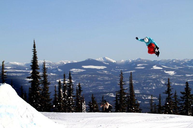 at Big White ski resort it is the champayne powder