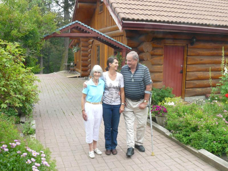 Elderly guests at the Hitching Post cabins