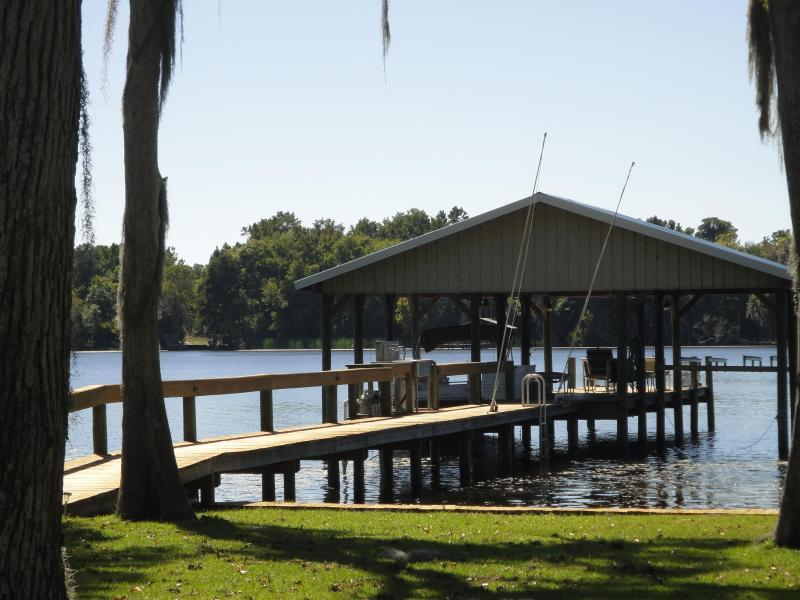 Private dock,with electric, water and fish cleaning area