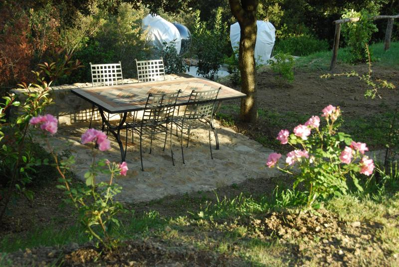 Al Fresco eating under the trees-exclusive to Casa Bartoli and guests