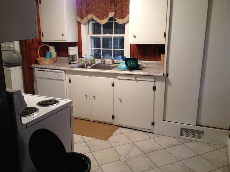 Galley kitchen recently updated
