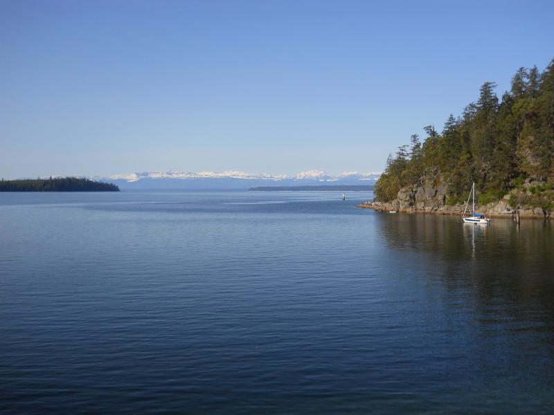 Negociaciones comerciales multilaterales en la isla de Vancouver nevadas de Whaletown Ferry Dock