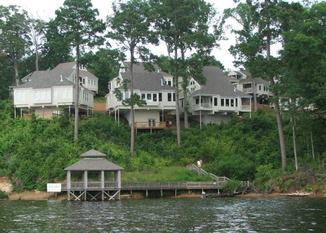Villa view from lake