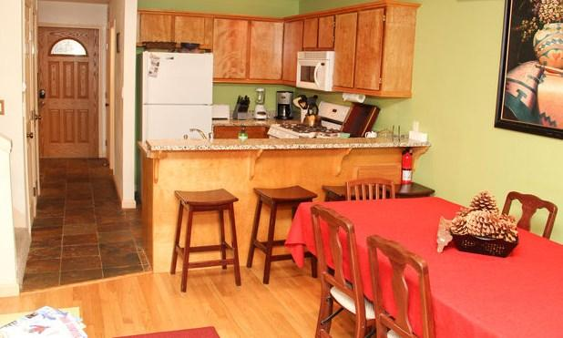 View of the kitchen from living room