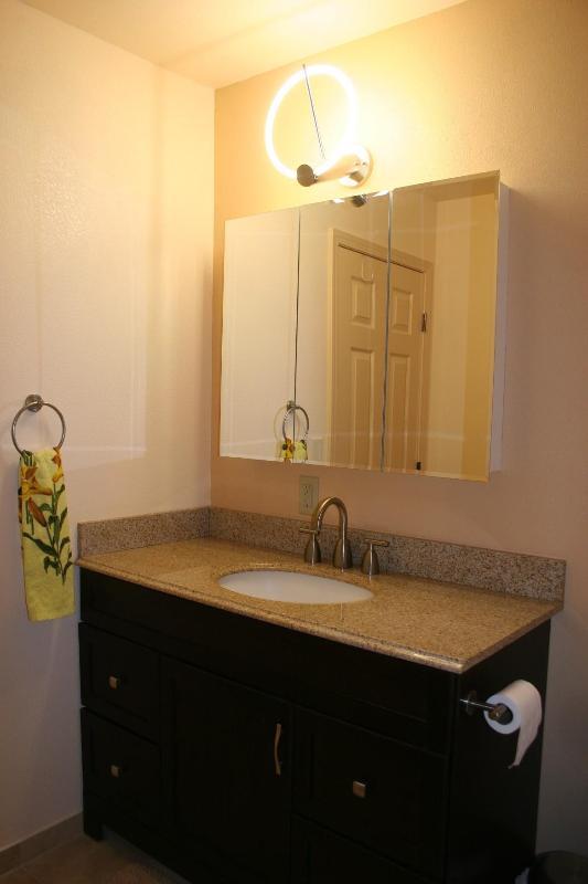 Granite Countertop in Upstairs Bathroom