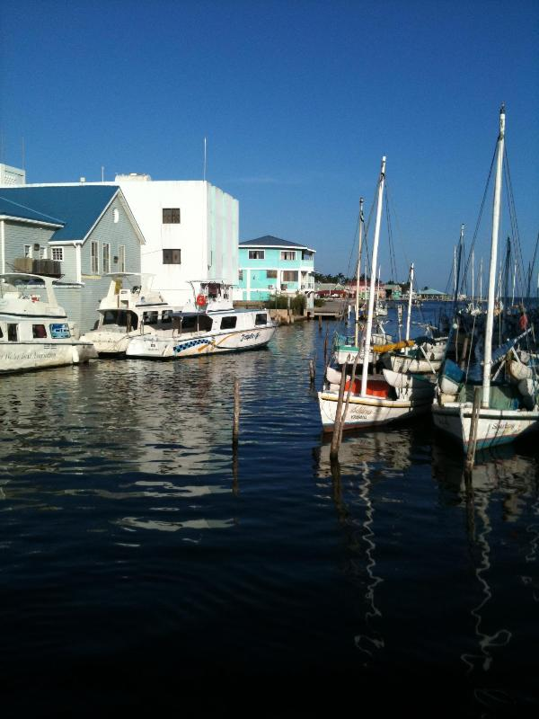 Belize City boat marina, walking distance to Bella Sombra Guest House
