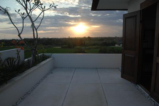 Sunset from master bedroom terrace