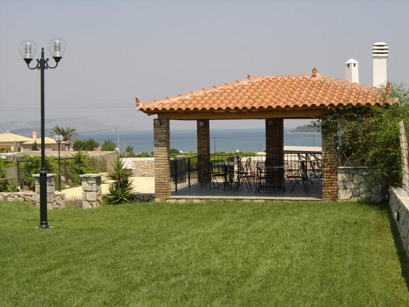 BBQ area with sea views