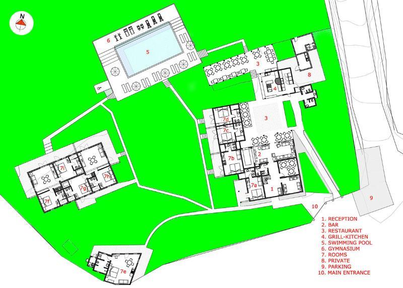 general plan Casa Hotel Populi