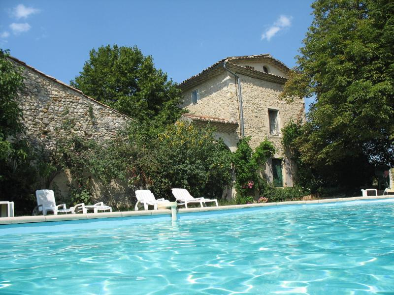 Main house with swimming pool