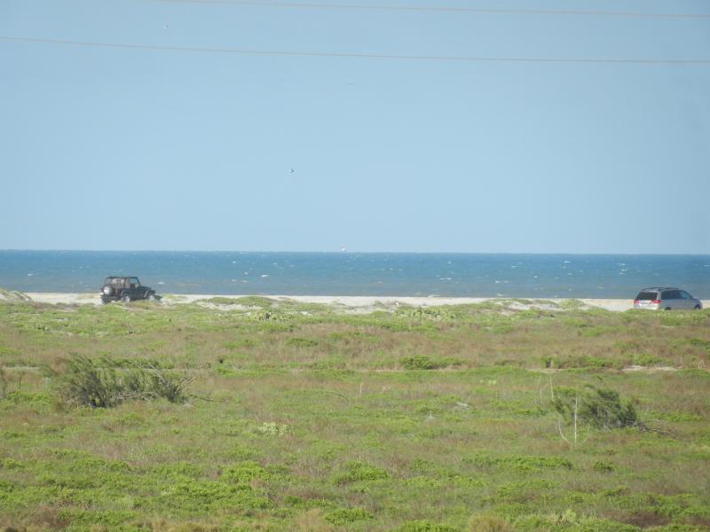 Whitecap beach one block across the dunes!