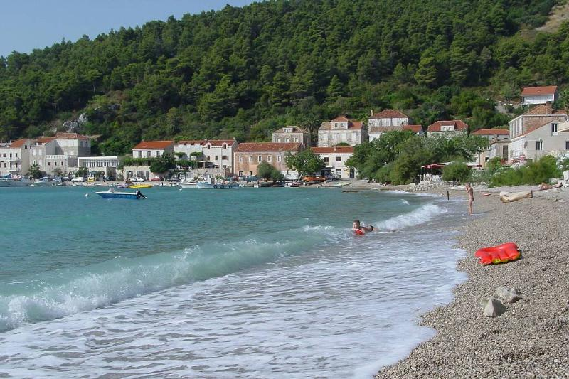 The beach is about 300m long, shallow water at beginning, but it gets deeper after 5 meters