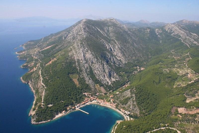 The view from above to the lovely Trstenik bay