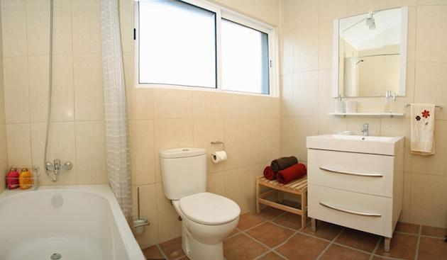 Spacious bathroom (bath has been replaced with a walk in shower)