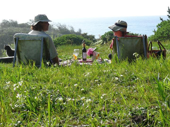 Picnic on your own bluff over the ocean