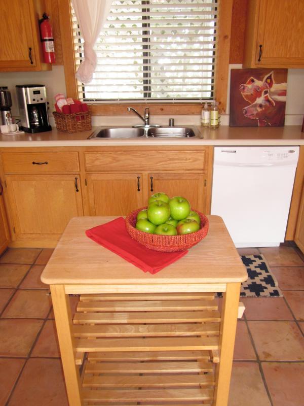 Cocina de casa de campo de petanca
