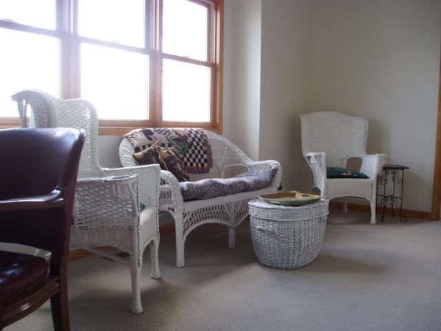 peaceful upstairs sitting room