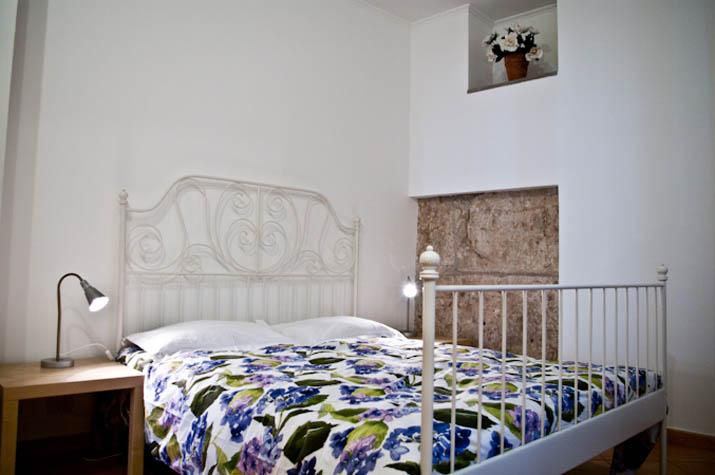 The bedroom with  pre roman wall inside