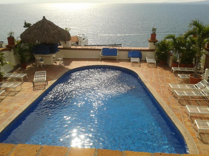 Zwembad en zon