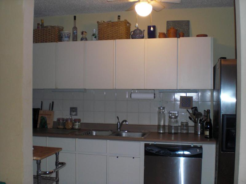 open and squeaky clean kitchen