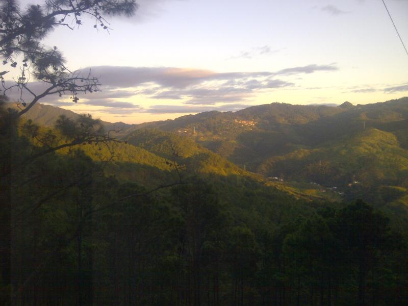 Beautiful Mountain view towards Santa Lucia