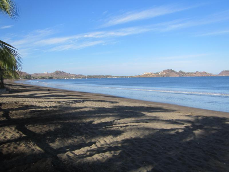 Playa Potrero is a beautiful and tranquil beach with a small marina on the South end.