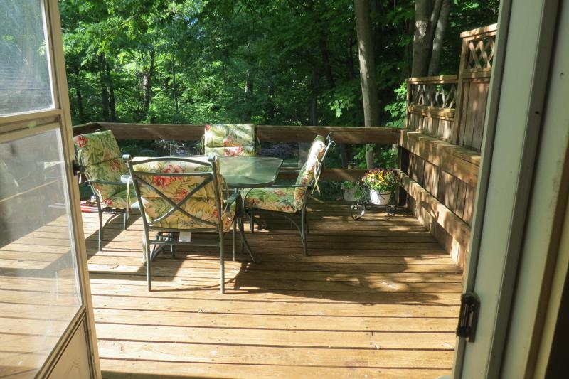Backyard Deck with patio set