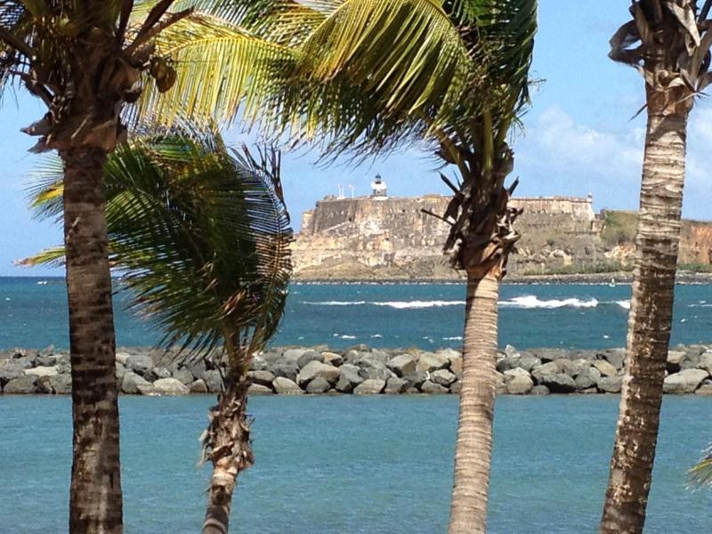 View of El Morro from Isla de Cabras